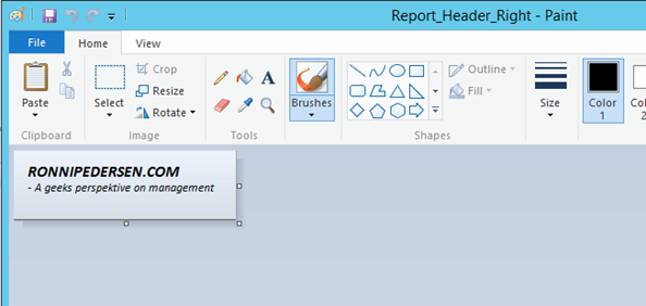 SCCM 2012 R2: How to change the default Report Banner