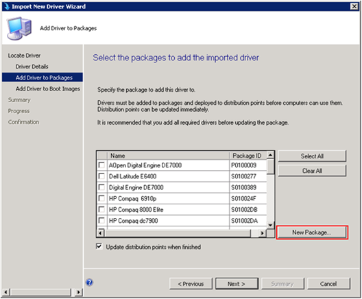 Importing drivers for OSD in SCCM 2012