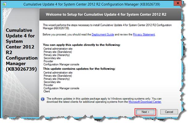 Installing SCCM 2012 R2 CU4 - Quick Start Guide
