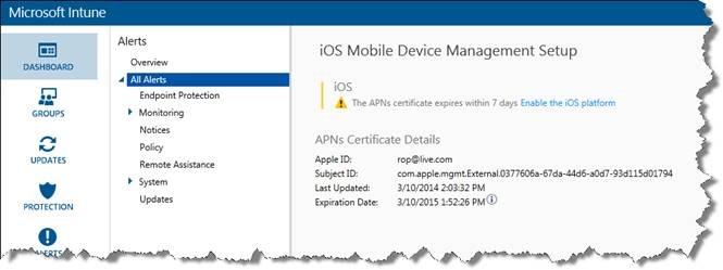 Renew Apple Push Notification Certificate for Microsoft Intune ...