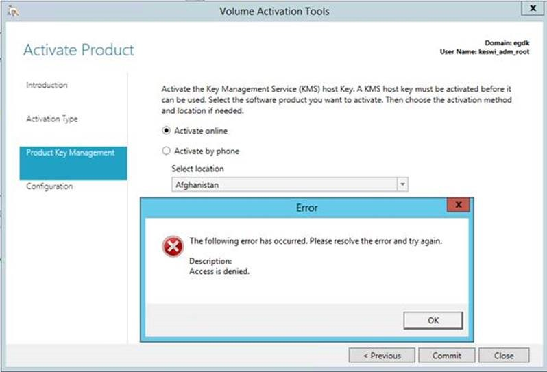 Active Directory Based Activation in an multi domain