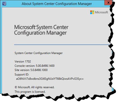 SCCM/ConfigMgr Current Branch update 1702 available - RONNIPEDERSEN COM