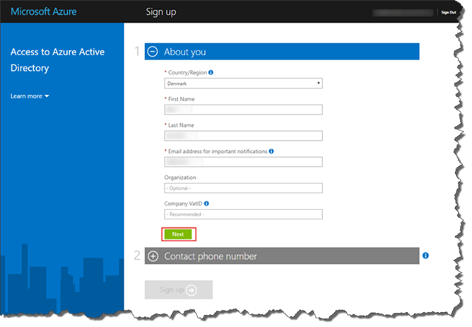 windows azure free trial without credit card